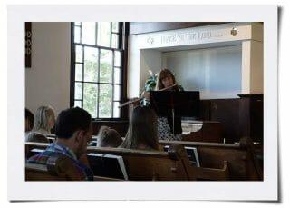 Sunday Worship - Mary on flute solo